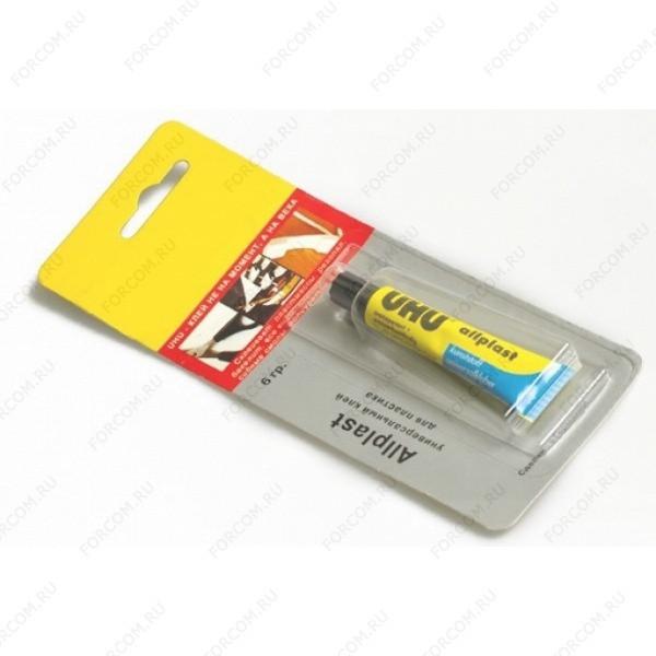 UHU 48426/B Allplast Клей UHU Аллпласт Универсальный Клей для всех видов пластика 6 гр. в блистере