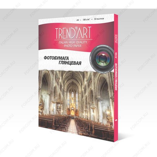 TrendArt H180_A4_50 Фотобумага TrendArt High Glossy Inkjet А4, 180г, 50 листов, покрытие Cast Coated