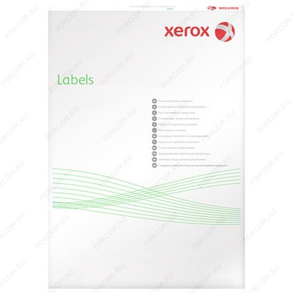 Xerox 003R93872 Наклейки Colotech XEROX А4:1, 100 листов (199,6x289,1мм)