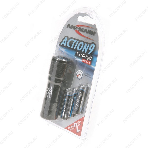 ANSMANN 5016243 Action 9LED-3AAA BL1 Фонарь