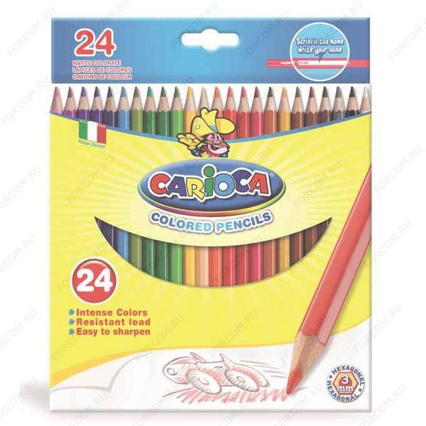 Карандаши цветные Carioca, набор 24 цвета, 40381
