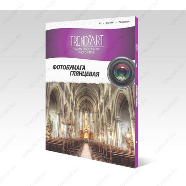 TrendArt H210_A3_20 Фотобумага TrendArt High Glossy Inkjet А3, 210г, 20 листов, покрытие Cast Coated