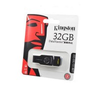 Носитель информации KINGSTON USB 3.1/3.0/2.0  32GB  DataTraveler  SWIVL металл с черным BL1