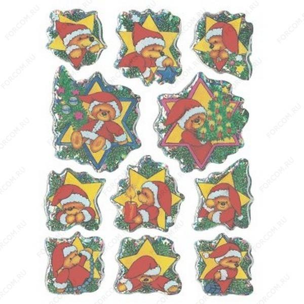 HERMA 6533 Magic Новый Год Мишка-Дед Мороз