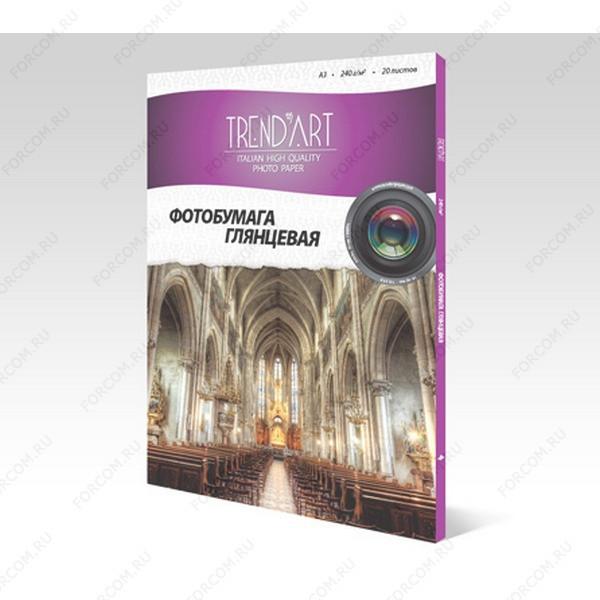 TrendArt H240_A3_20 Фотобумага TrendArt High Glossy Inkjet А3, 240г, 20 листов, покрытие Cast Coated