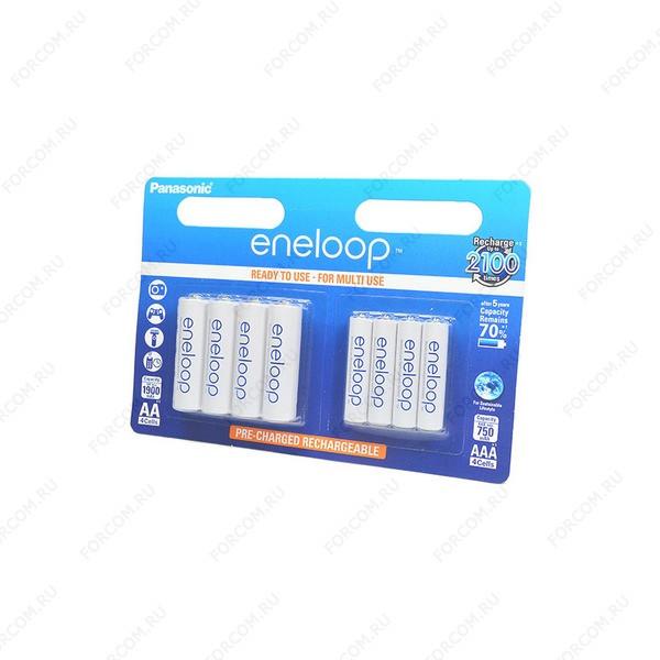 Panasonic eneloop BK-KJMCCE44E 750mAh AAA + 1900mAh AA BL8 Аккумулятор