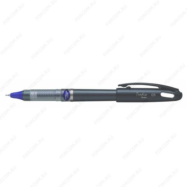 Ручка гелевая Pentel Tradio 05, 0.5 мм, синяя BLN115A-C