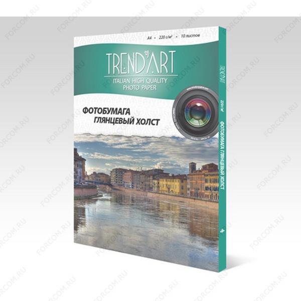 TrendArt IHC220_A4_10 Холст TrendArt Inkjet High Glossy А4, 220г, 10 листов