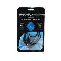 ROBITON P7 black 8pin AppleLightning SyncCharg 1м черный PH1 Кабель USB