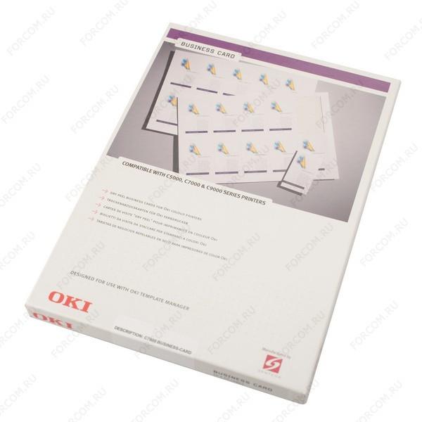 OKI 09002985 Бумага для печати визиток А4 (50 листов) OKI C3000/C5000/C7000/C9000