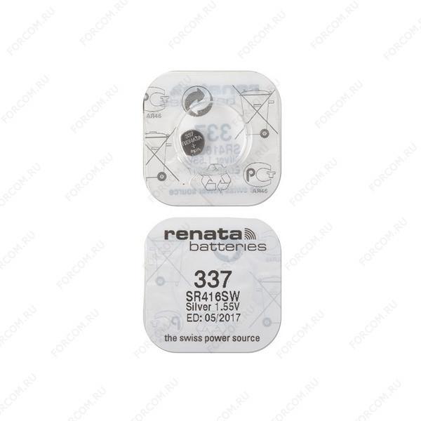 RENATA SR416SW 337, в упак 10 шт Элемент питания