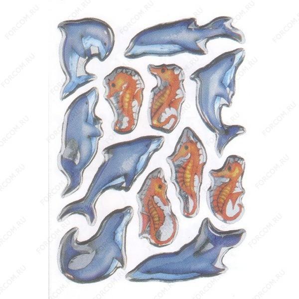 HERMA 6811 Magic Наклейки Морские коньки + дельфины