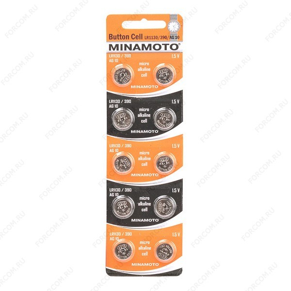 MINAMOTO Button Cell AG10 BL10 Элемент питания