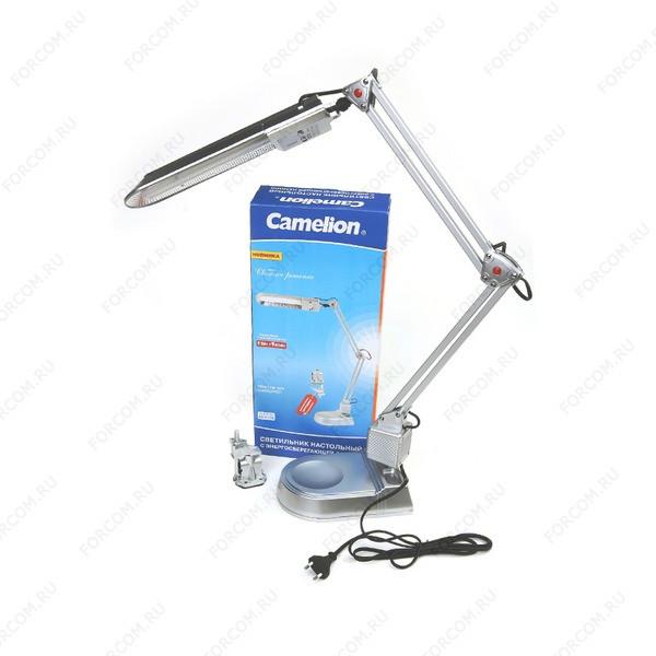 Camelion KD-017A серебро (в комплектете база+струбцина) Светильник