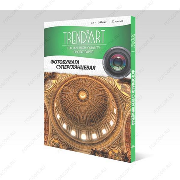 TrendArt PH240_A4_20 Фотобумага TrendArt Premium High Glossy Inkjet А4, 240г, 20 листов, покрытие RC-base