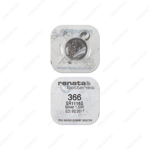 RENATA SR1116S 366, в упак 10 шт Элемент питания
