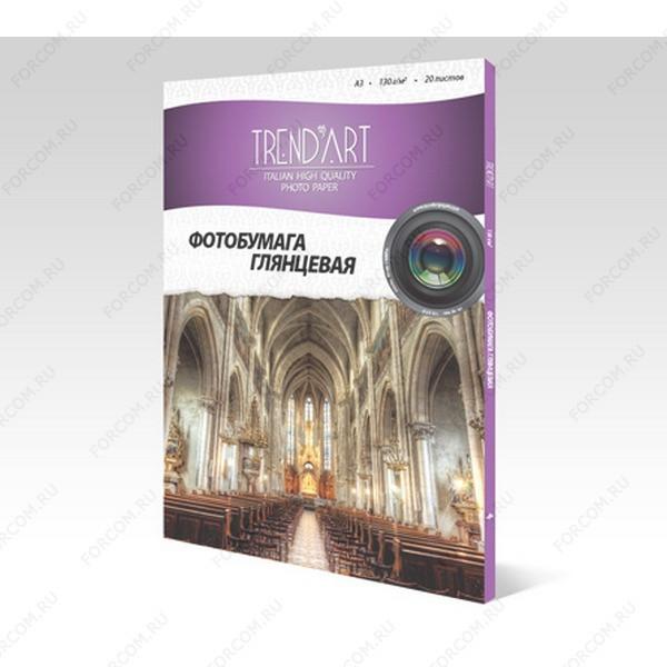 TrendArt H130_A3_20 Фотобумага TrendArt High Glossy Inkjet А3, 130г, 20 листов, покрытие Cast Coated
