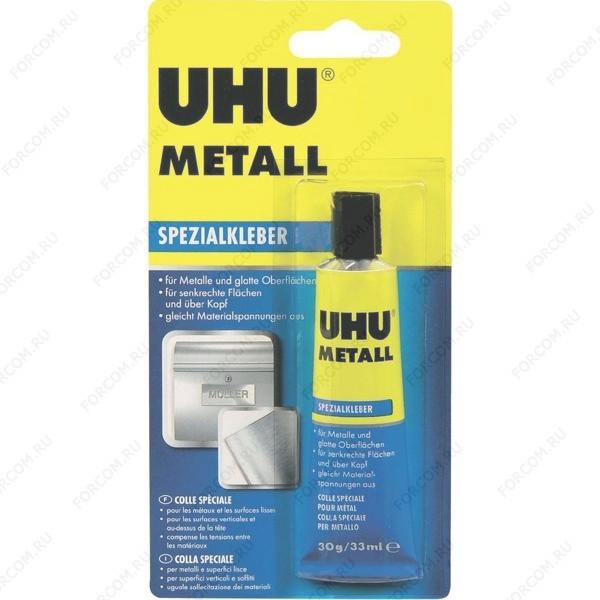 UHU 46670 Metall Контактный Клей для ремонта металла 30 гр., блистер