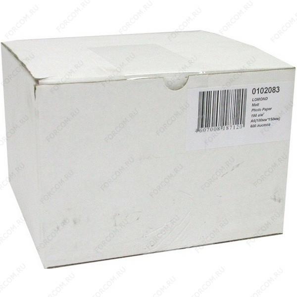 Lomond 0102083 Односторонняя Матовая фотобумага для струйной печати, A6 (10 X 15), 180 г/м2, 600 листов