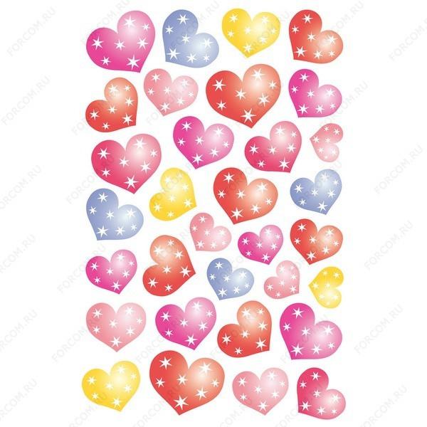HERMA 3256 Magic Наклейки Звездные сердечки
