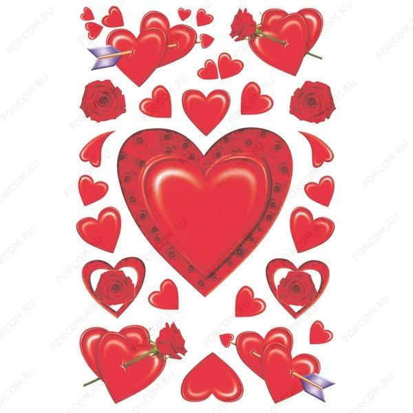 HERMA 3257 Magic Наклейки Шелковое сердце