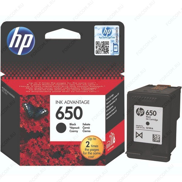 HP CZ101AE Картридж №650 черный HP DeskJet Ink Advantage 2515/2515 e-All-in-One