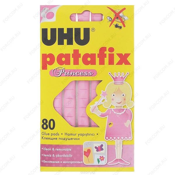 UHU 41710 Patafix Princess Клеящие подушечки для временного крепления, розовые