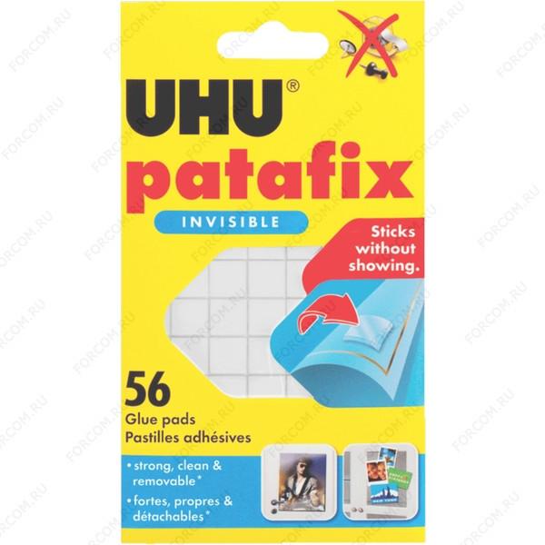 UHU 37155 Patafix Invisible Клеящие подушечки для временного крепления, прозрачные