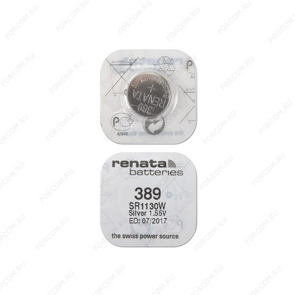 RENATA SR1130W 389, в упак 10 шт Элемент питания