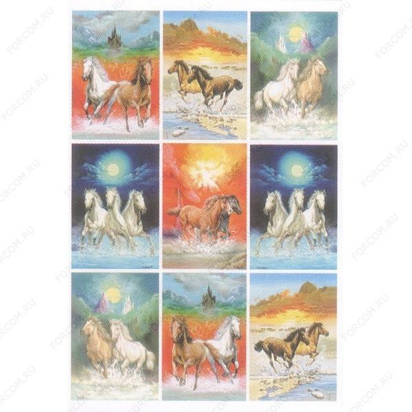 HERMA 3523 Decor Наклейки Лошади на воде (фото)