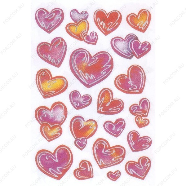 HERMA 3542 Decor Наклейки Серебрянное сердце
