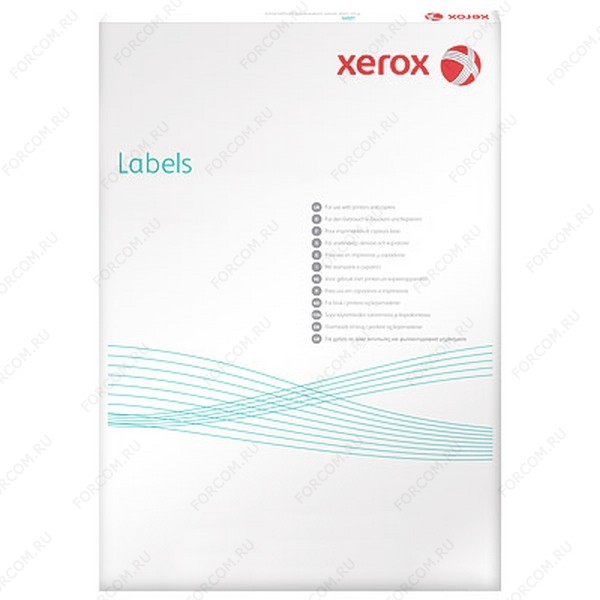Xerox 003R97405 Наклейки Laser/Copier XEROX А4:12, 100 листов (105x44мм) Прямоугольные края
