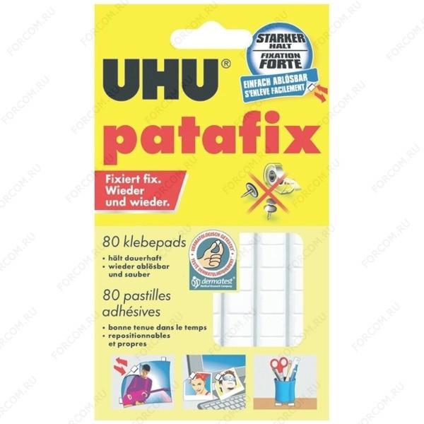 UHU 48810 Patafix Клеящие подушечки для временного крепления, белые