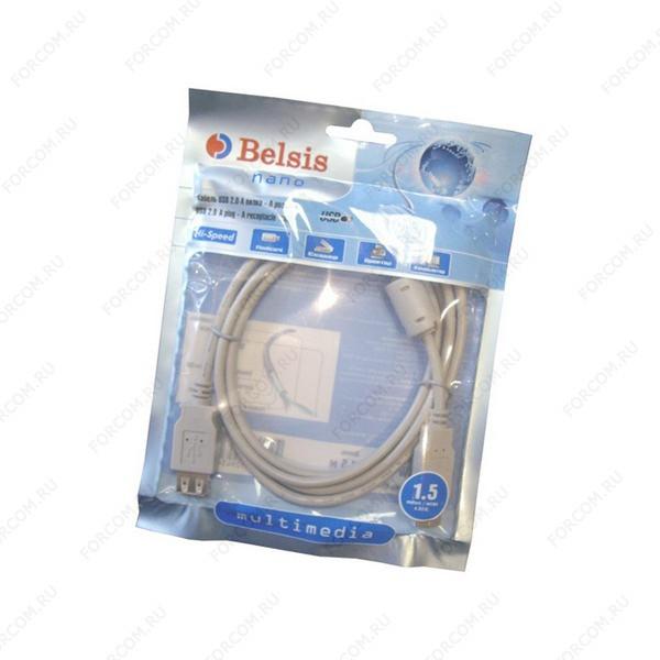 Кабель удлинитель USB 2.0 Am-Af 1.5m с ф/фильтром Belsis BW1400