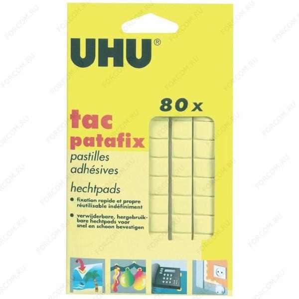 UHU 50140 Patafix Клеящие подушечки для временного крепления, желтые