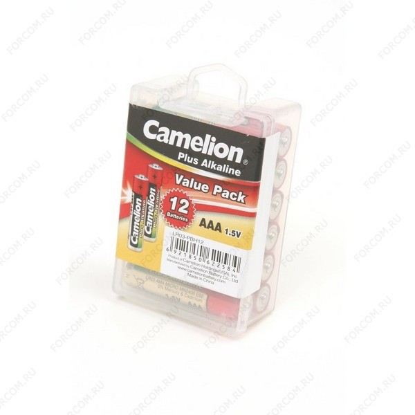 Camelion Plus Alkaline LR03-PBH12 LR03 в пласт. боксе 12 шт Элемент питания