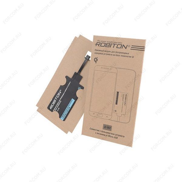 ROBITON Qi-W2 приемный модуль для устройств Micro-USB Беспроводное зарядное устройство