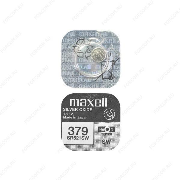 MAXELL SR521SW 379 (RUS), в упак 10шт Элемент питания