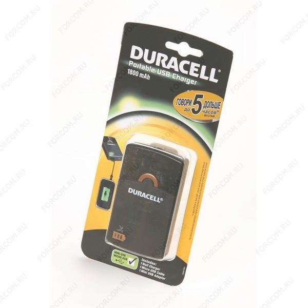 DURACELL Portable USB Charger 1800mAh BL1 Универсальный внешний аккумулятор