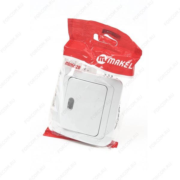 MAKEL MIMOZA 1 кл c подс. 12021 Белый BL1 Выключатель