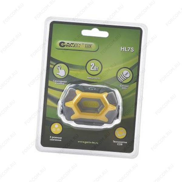 GARIN LUX HL7S налобный 2Вт, с сенсорной кнопкой BL1 Фонарь