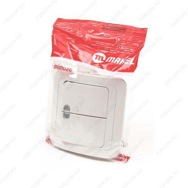 MAKEL MIMOZA 2 кл с подс. 25023 Кремовый BL1 Выключатель