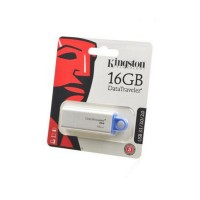 KINGSTON USB 3.1/3.0/2.0  16GB  DataTraveler G4  белый c синим BL1 Носитель информации