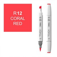 Маркер спиртовой ShinHanart Touch Twin Brush R12 Coral Red (1210012)