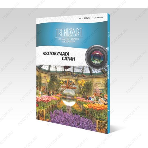 TrendArt PS260_A3_20 Фотобумага TrendArt Premium Satin Inkjet А3, 260г, 20 листов, покрытие RC-base