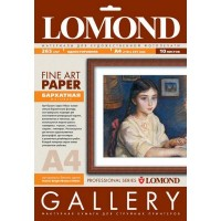 Lomond 0911141 Velour Bright Natural White - бархатная фактура, А4, 265 г/м2, 10 листов