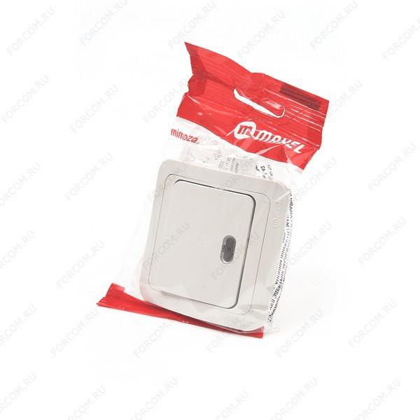 MAKEL MIMOZA 1 кл с подс. 25021 Кремовый BL1 Выключатель