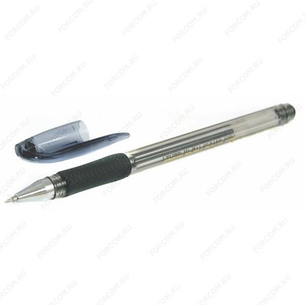 Ручка гелевая Crown Hi-Jell Roller, с резиновым упором, 0,7 мм, черная