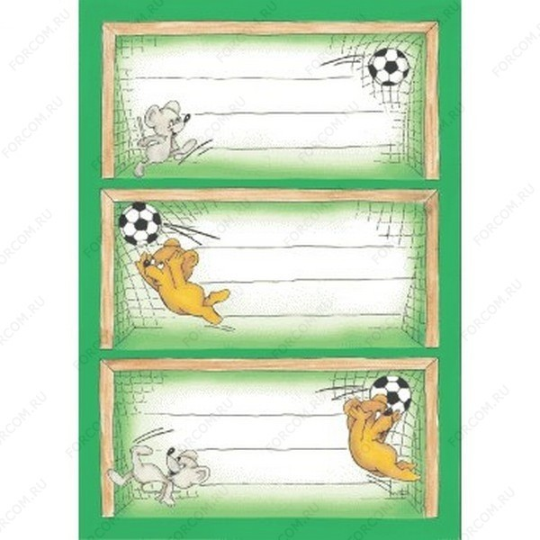 HERMA 4978 Vario Наклейки Для тетрадей Веселый футбол