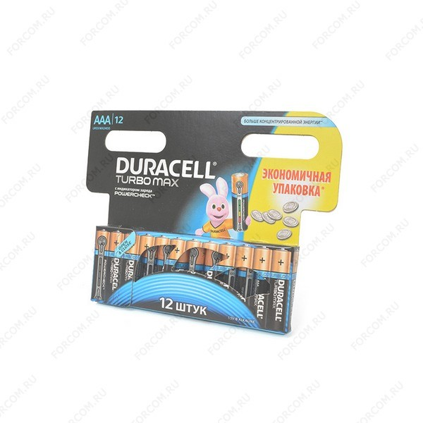DURACELL TURBO MAX LR03 BL12 Элемент питания